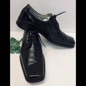 Stacy Adams Black Leather Oxford Dress Shoes